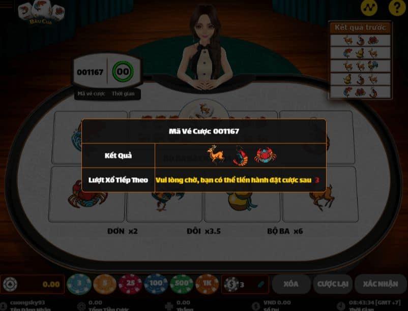 cách chơi trò chơi bầu cua tôm cá w88