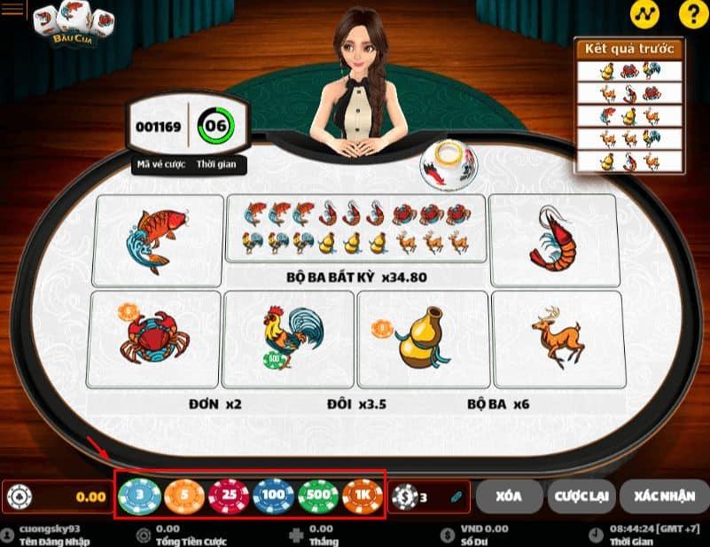 cách chơi game bầu cua tôm cá online w88