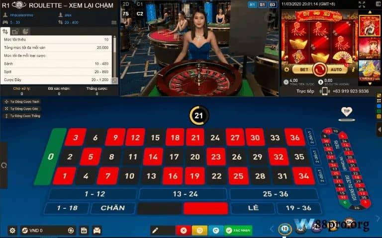 w88 casino đánh bài online ăn tiền thật roulette