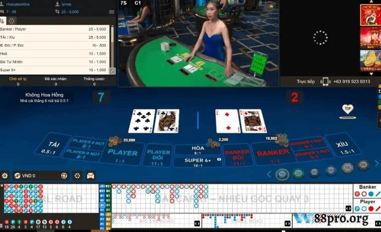 w88 casino đánh bài online ăn tiền thật baccarat