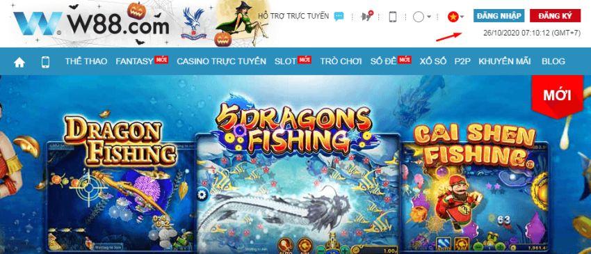 cách chơi bắn cá online tại w88