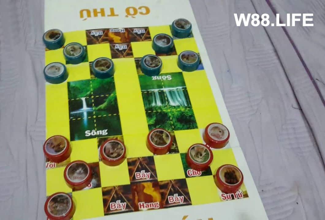 cách thiết lập bàn chơi cờ thú
