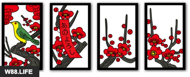bộ bài hoa hanafuda tháng 2