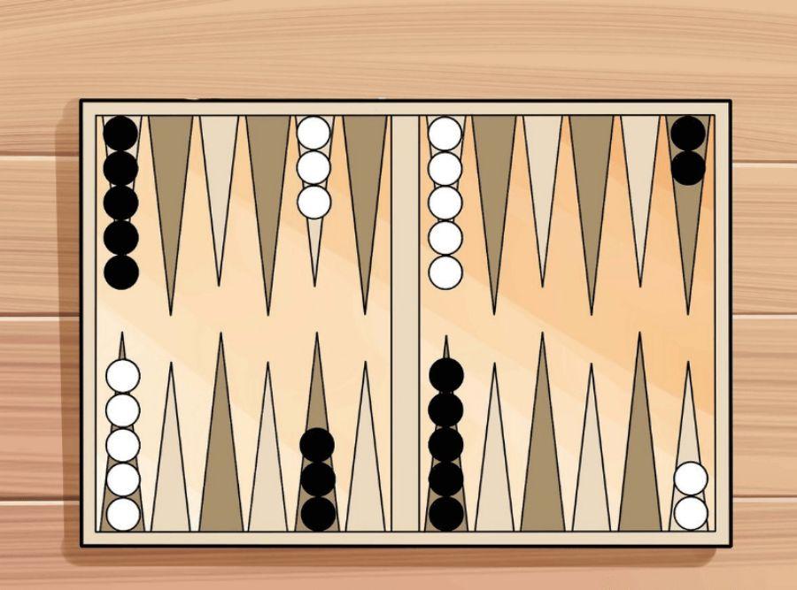 cách thiết lập bàn cờ backgammon