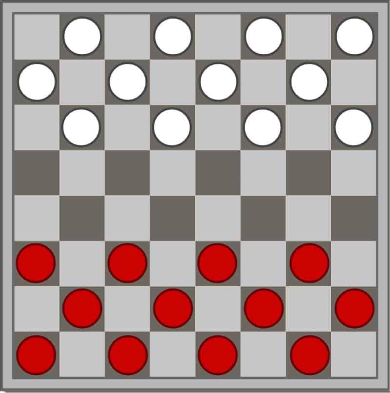cách thiết lập bàn cờ đam